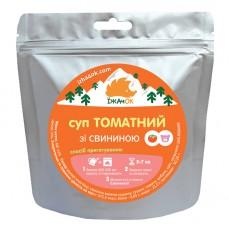 Суп томатний зі свининою Їжачок